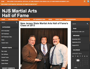 NJ Martial Arts Hall of Fame 2013